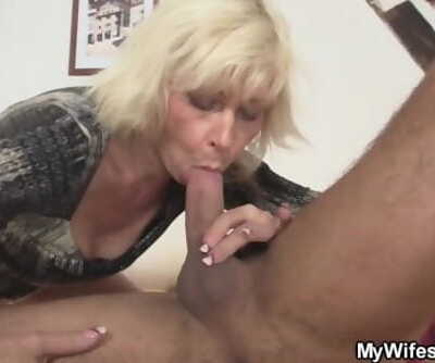 Girlfriends hot blonde mom gets..