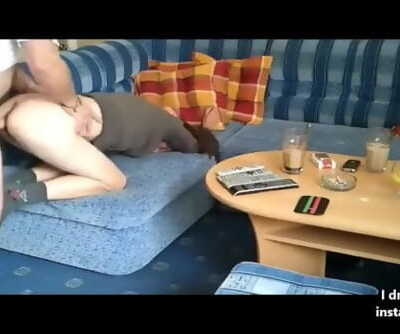 Milf anal fuck on my living room..