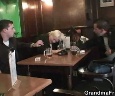 Hot Threesome with Totally Granny