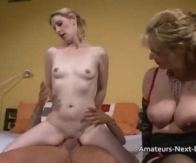Pale Blonde Fucks with an Older..