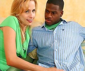 Yummy blonde slut nailing her stepsons hard black dick - part 645