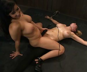 Rain DeGrey and other princesses love to be tied up while enjoying BDSM