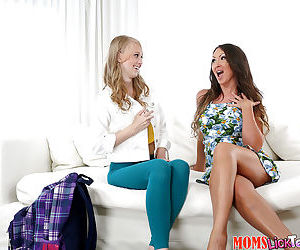 Naughty MILF and teen lesbian sex with Yasmin Scott and Lily Rader
