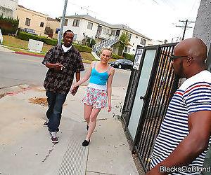 Caroline cross got tag-teamed by black pals - part 2998