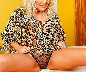Busty blonde mature sissy - part 52