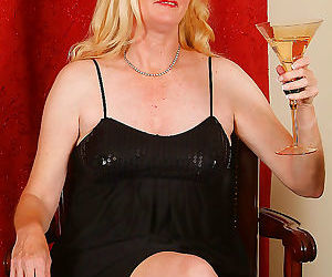 Elegant 55 year old enjoys a bit of wine - part 1641