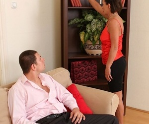 Saucy mom with sexy curves gets fucked and blows a boner off