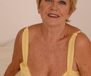 American blonde granny with fake tits Malya gets rammed by a hunk