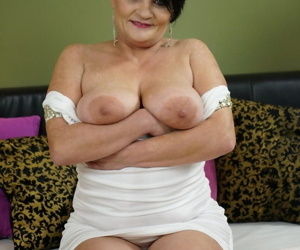 Lusty granny Dolly Bee sucks a young cock gets it shoved deep into her pussy