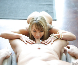 Magnificent mature with large boobies Shayla sucking a nice dick - part 2