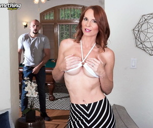 Once April Skyz unzips his pants- she will take care of his meat pole