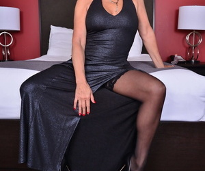 Sultry mature blonde Bianca J seduces her young lover for raw pounding