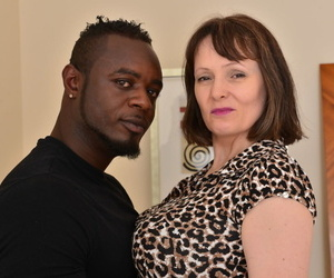 Busty British housewife fucks a black man while hubby is at work
