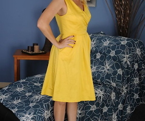 Undressing scene from a marvelous mature blonde Sky Martin