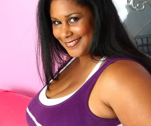 Ebony BBW Delilah Black gets her holes licked and dicked by her black lover