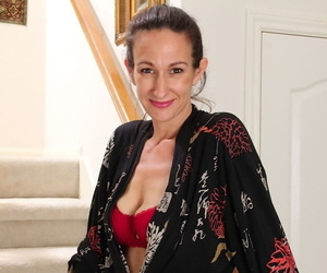 Dazzling mature with dirty dreams Genevieve Crest loves fingering