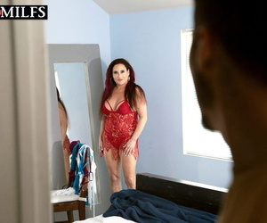 Mature woman Amanda Ryder bangs her toy boy after changing her lingerie