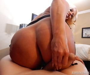 Mature pornstar Alura Jenson gets it on with a big dick POV style
