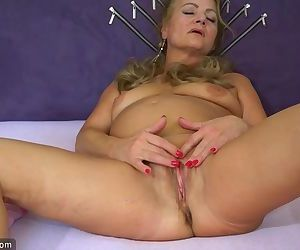 Sexy old granny, granny masturbate, mature play with herself
