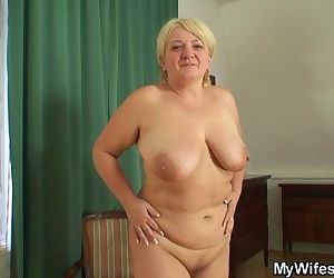 Busty girlfriends mother sucks and rides his cock