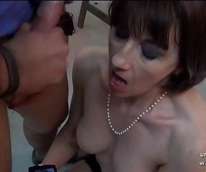 Amateur posh french milf sodomized and facialized for her sextapeHD+