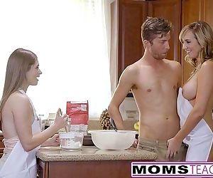 MomsTeachSex - Horny Mom Tricks Teen Into Hot Threeway - 8 min HD