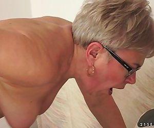 Granny Ursula Grande fucks a much younger cock - 6 min HD