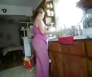 Kitchen son Mom fuck 6 min