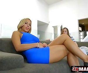Gorgeous MILF Olivia Austin Fucks Young Wimp 7 min HD