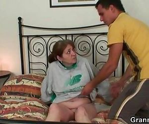 Injured granny is healed by young dick - 6 min