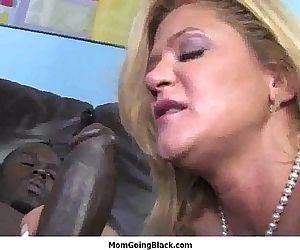 Black monster cock inside MILFs pussy 7