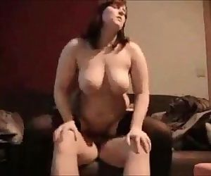 Curvy wife ass fucked on real homemade - 8 min