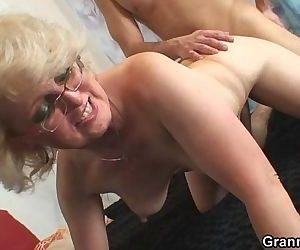 She pleases his horny young cock - 6 min