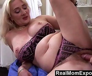 RealMomExposedLascivious milf gets her hairy pussy stuffed with cockHD