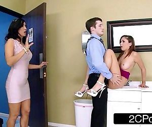 Naughty Stepmom/Teen FFM 3Some At The Office - Isis Love, Ariana Marie - 8 min HD