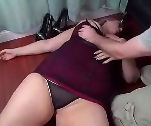 bbw gets knocked out and fucked by her stepson 15 min