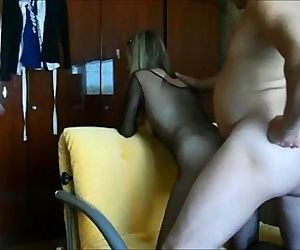 Milf anal creampie on real homemade