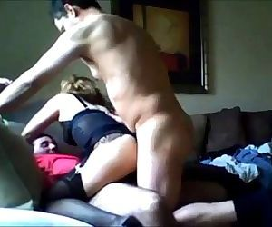 Cheating wife hooks up with two guys - 7 min