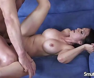 Sexy brunette MILF loves taking cockHD