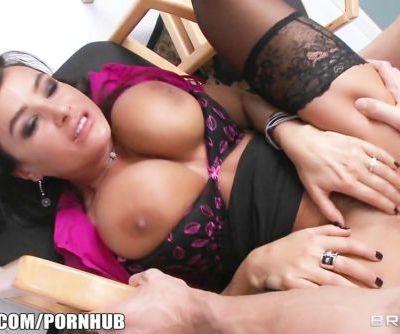 Big-tit MILF Lisa Ann Is slammed by hard cock on her boss\