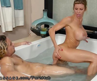 Son Caught Step-Mommy Alexis Fawx Working at Nuru Massage!