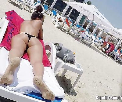 Thong Ass Bikini horny Milfs Beach Voyeur HD