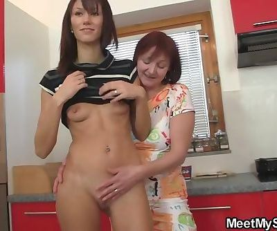 Mature couple threesome with Czech hottie