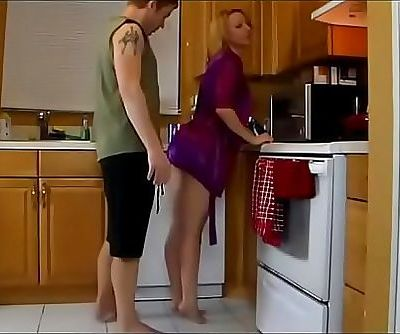 son fuck his mom in the kitchen 11 min