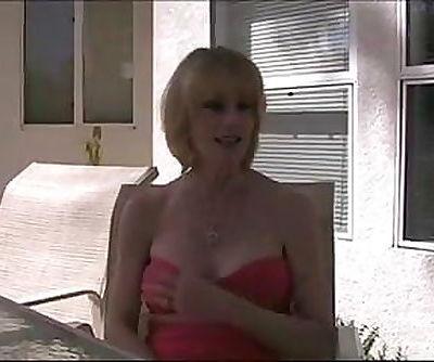 MILF #100 Super-duper Blonde Mom in the Backyard
