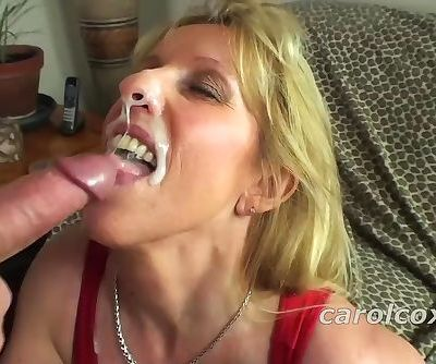 Carol Cox Sucks And Swallows A Nice Young Cock