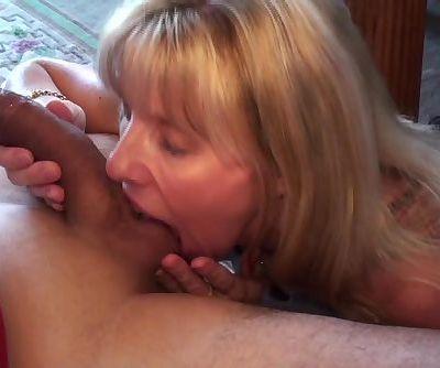 Mature Blonde Sucks and Swallows Her Pornhub Subscriber!