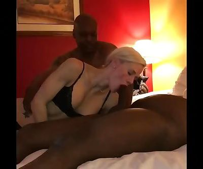 Nervous white wife gangfucked breeding party