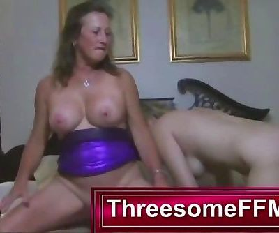 Young Guy Fucking Two Mature Ladies