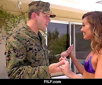 FILF – Asian StepMom Christy Love Gives Her Soldier StepSon A Warm Welcome Home 12 min HD+